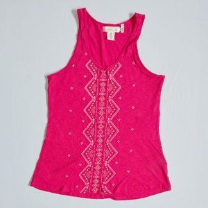 💰3/20$💰H&M Pink embroidered tank top